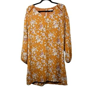 Skies are Blue yellow floral shift dress